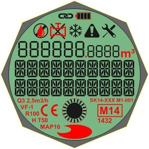 カスタムデザイン7セグメントSTNグレーLCDディスプレイ、ポジティブ、透過モード