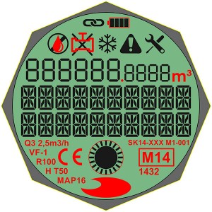 Custom Design 7 Segment STN grau LCD-Anzeige, positiver, transmissiven Modus