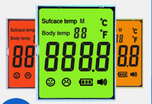 Non-Contact Infrared Forehead Thermometer Display