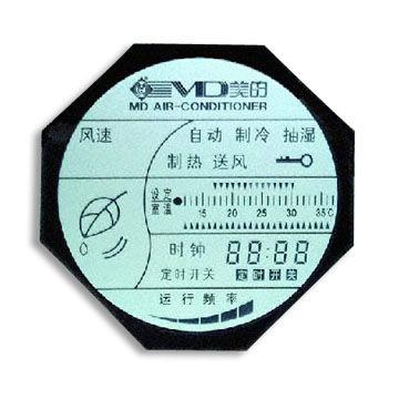 Alfanumérico do painel LCD com pinos de metal, Adequado imagem para climatizadores Destaque