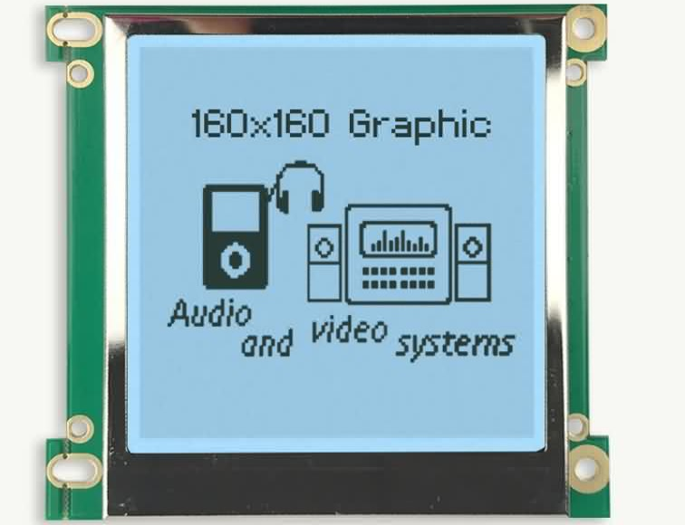 160×160 Custom LCD for power system