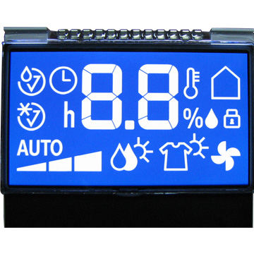 STN Negative Blue Transmissive Segment Matrix LCD Module with Backlight, +5.0V Power Supply Featured Image